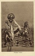 India, Native Juggler Juggling, Monkey Trainer, Two Monkeys (1920s) Postcard - India