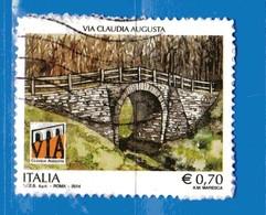 Italia- °-2014 -  VIA CLAUDIA AUGUSTA - Unif. 3532.  Usato.   Vedi Descrizione - 6. 1946-.. Repubblica