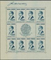 BRASILIEN 1938 1 Jahr Neue Verfassung. Postfrischer Kab.-Block ABART - Blocks & Sheetlets
