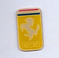 PIN S AUTOMOBILE FERRARI AVEC CHEVAL BLANC - Ferrari