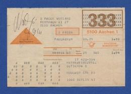 BRD Beleg Nachnahme - 3 Pagen Versand AACHEN > BERLIN 1979 - BRD