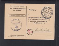 Dt. Reich PK Polizeidirektor In Gotha 1945 - Briefe U. Dokumente
