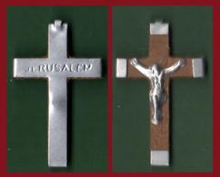 #37914 Jerusalem. Small, Old Commemorative Cross - Juwelen & Horloges