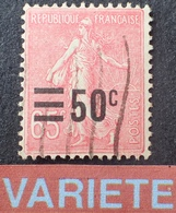 R1934/198 - 1926 - SEMEUSE FOND LIGNE - N°224 ☉ - VARIETE ➤➤➤ Surcharge Déplacée - Variedades Y Curiosidades