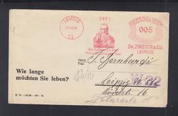 Dt. Reich Brief 1928 Freistempel Leipzig Dr. Zinsser & Co - Deutschland