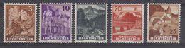 Liechtenstein 1937 Definitives 5v ** Mnh (43314) - Unused Stamps