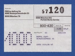 BRD Beleg - Perfekt Werbe Service I.A. Für ADAC MÜNCHEN - [7] Federal Republic