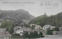 AK 0272  Gutenstein Mit Der Ruine Und Mariahilfberg Um 1907 - Gutenstein
