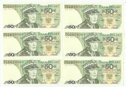 Billet Neuf De Banque De 50 Zlotych 1975-1988 - Poland
