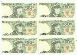 Billet Neuf De Banque De 50 Zlotych 1975-1988 - Pologne