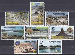 Dschibuti Djibouti 1984 Tourismus Tourism Landschaften Landscapes Seen Lakes Abbe Obock Bauwerke Buildings, Mi. 401-8 ** - Dschibuti (1977-...)