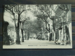 F13 - 11 - Quillan - Edition L. Escudié -  Les Promenades - Altri Comuni