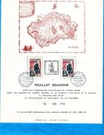 REUNION-feuillet Souvenir -tirage 500 Ex  N°181-1967 Peuplement Ile Bourbon -2 Stamps - Réunion (1852-1975)