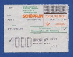 BRD Beleg Warensendung - Großversandhaus SCHÖPFLIN GmbH, LÖRRACH 1981 - BRD