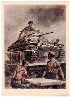 Gel. Feldpostkarte Mit Heroischer Wehrmachts-Darstellung - Besetzungen 1938-45