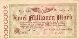 2 Mio Mark Deutsche Rechsbahn AU/EF (II) - [ 9] Duitse Bezette Gebieden