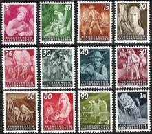 Liechtenstein 1951: Landwirtschaft Vie Rurale  Zu 236-247 Mi 289-300 Yv 251-262 ** Postfrisch MNH (Zumstein CHF 150.00) - Liechtenstein