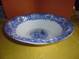 Plat Parlant Creux Grigny Rhone TM & Cie-joli Bleu - Céramiques