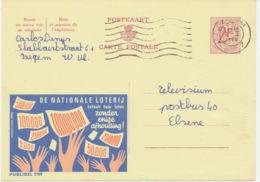BELGIEN 1969, 2169 DE NATIONALE LOTERIJ LOTTERIE/LOTTO 2 F Werbe-GA IZEGEM - Entiers Postaux
