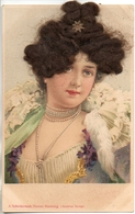 A Schwidernoch Vienna Hacking - Portrait Femme Avec Vrais Cheveux - Cartoline Con Meccanismi