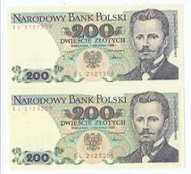 Billet Neuf De Banque De 200 Zlotych 1975-1988 - Pologne