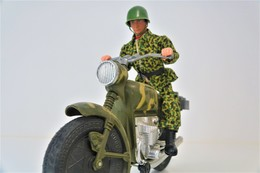 Vintage ACTION MAN MOLTO : DISPATCH RIDER WITH ORIGINAL BOX - REF 561 - Made In Spain  - Motorcycle - GI JOE - Action Man