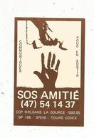 Autocollant , SOS AMITIE ,  TOURS - Autocollants