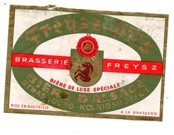 Etiquette Bière Alsace Freysz Koenigshoffen - Vieux Papiers