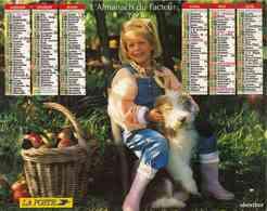 °° Calendrier Almanach La Poste 1993 Oberthur - Dépt 32 - Enfants Avec Chien Et Chat - Calendriers