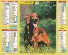°° Calendrier Almanach La Poste 1995 Oberthur - Dépt 32 - Chiens - Calendriers