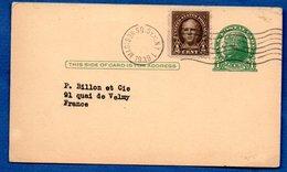 USA - Entier Postal - De New York  -pour Paris 1939 - Postal Stationery