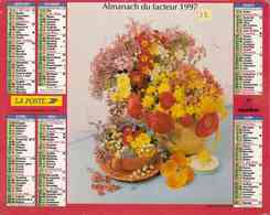 °° Calendrier Almanach La Poste 1997 Oberthur - Dépt 32 - Bouquets De Fleurs - Calendriers