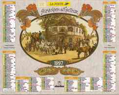 °° Calendrier Almanach La Poste 1997 Oberthur - Dépt 32 - Diligence Et Charrette Attelée - Calendriers