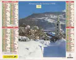 °° Calendrier Almanach La Poste 1998 Oberthur - Dépt 32 - Bourg St Maurice Et Le Lac Traunsee En Autriche - Calendriers