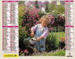 °° Calendrier Almanach La Poste 1998 Oberthur - Dépt 32 - Enfants Au Jardin Et Avec Chaton - Calendriers