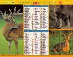 °° Calendrier Almanach La Poste 1999 Lavigne - Dépt 32 - Animaux De Nos Forêts - Calendriers