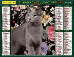 °° Calendrier Almanach La Poste 1999 Lavigne - Dépt 32 - Chats - Calendriers