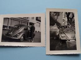 VW Volkswagen ( 2 Foto's > Formaat 7 X 10 Cm. ) Anno 1957 ( Zie Foto Voor Details ) ! - Automobiles