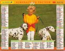 °° Calendrier Almanach La Poste 1999 Lavigne - Dépt 32 - Enfants Avec Chiens Et Cheval - Calendriers