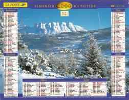 °° Calendrier Almanach La Poste 2000 Lavigne - Dépt 32 - Paysages De Montagne - Calendriers