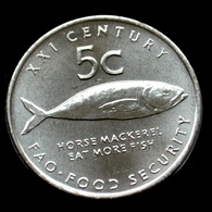 Namibia 5 Cents (F.A.O.) 2000. Km16, UNC Coin Fishes - Namibië
