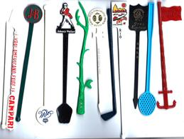 ME1 - 12 MELANGEURS A BOISSONS DIFFERENTS - Swizzle Sticks