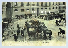 Garde Républicaine ( Cavalerie ) - L'Abreuvoir - Ed.: Ch. Debrock - Paris - Photo Prise Au Quartier Des Célestins (4566) - Foto's