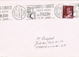 33273. Carta TOLEDO 1979.  Rodillo CORPUS CHRISTI, Fiesta Mayor - 1931-Hoy: 2ª República - ... Juan Carlos I