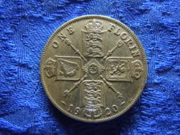 GREAT BRITAIN 1 FLORIN 1920, KM817a - 1902-1971: Postviktorianische Münzen
