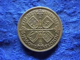 GREAT BRITAIN 1 FLORIN 1936, KM834 - 1902-1971: Postviktorianische Münzen