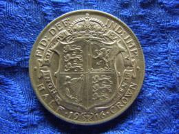 GREAT BRITAIN 1/2 CROWN 1916, KM818.1 - 1902-1971: Postviktorianische Münzen