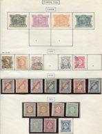 13527 PORTUGAL Collection Vendue Par Page  Taxe  1/4, 7/9, 11/2, 14/20, 21/7 */(*)/ °   1898-1915   B/TB - Port Dû (Taxe)