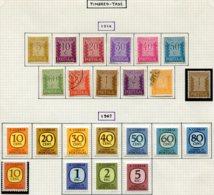 13529 PORTUGAL Collection Vendue Par Page  Taxe 58/68, 69/78, Télégraphe 1  */(*)/ °   1922-32   B/TB - Port Dû (Taxe)