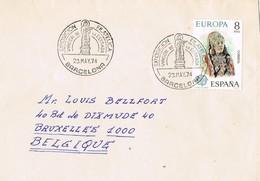 33274. Carta Exposicion BARCELONA 1974. Virgen De La Estrada. Sello Dama De Baza - 1931-Hoy: 2ª República - ... Juan Carlos I